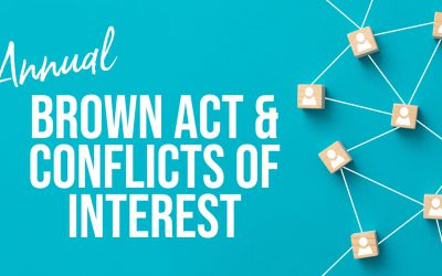 Annual Brown Act & Conflicts of Interest