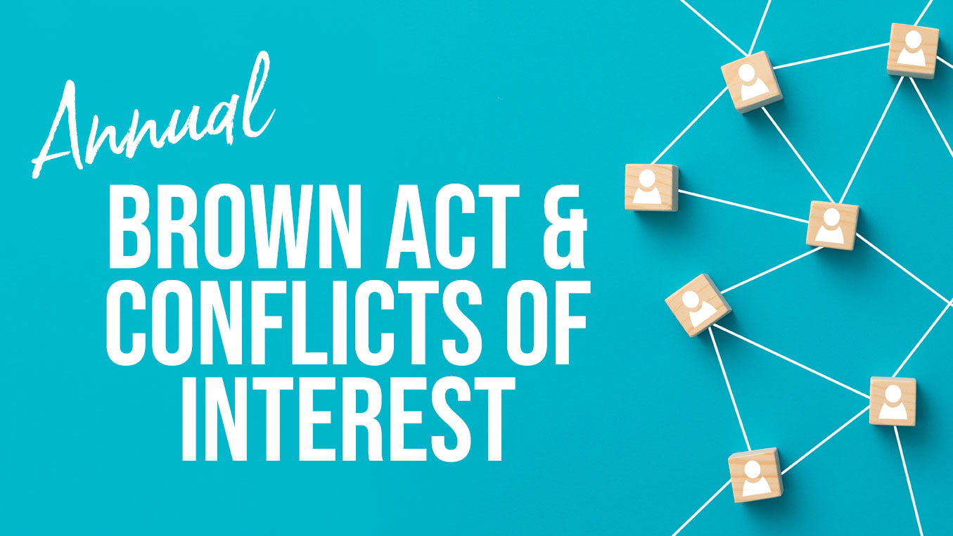 Brown Act & Conflicts of Interest