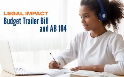 Critical Update: The Legal Impact of the Budget Trailer Bill and AB 104 on Charter Schools