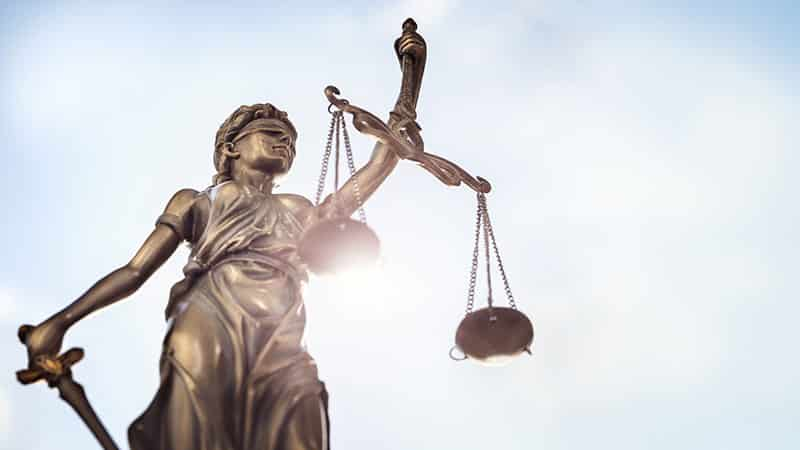 Lady Law Statue with Scales of Justice